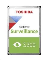 TOSHIBA HDD S300 Surveillance (CMR) 4TB, SATA III, 7200 rpm, 128MB cache, 3,5