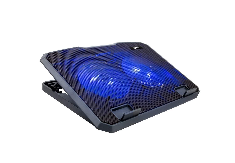 """C-TECH chladící podložka pod NTB CLP-140, 15,6"""", 2x 140mm, 2x USB, modré podsvícení"""