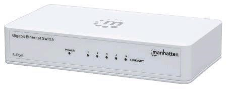 MANHATTAN 5-Port Gigabit Ethernet Switch, 5xRJ45 10/100/1000 Mbps Ports