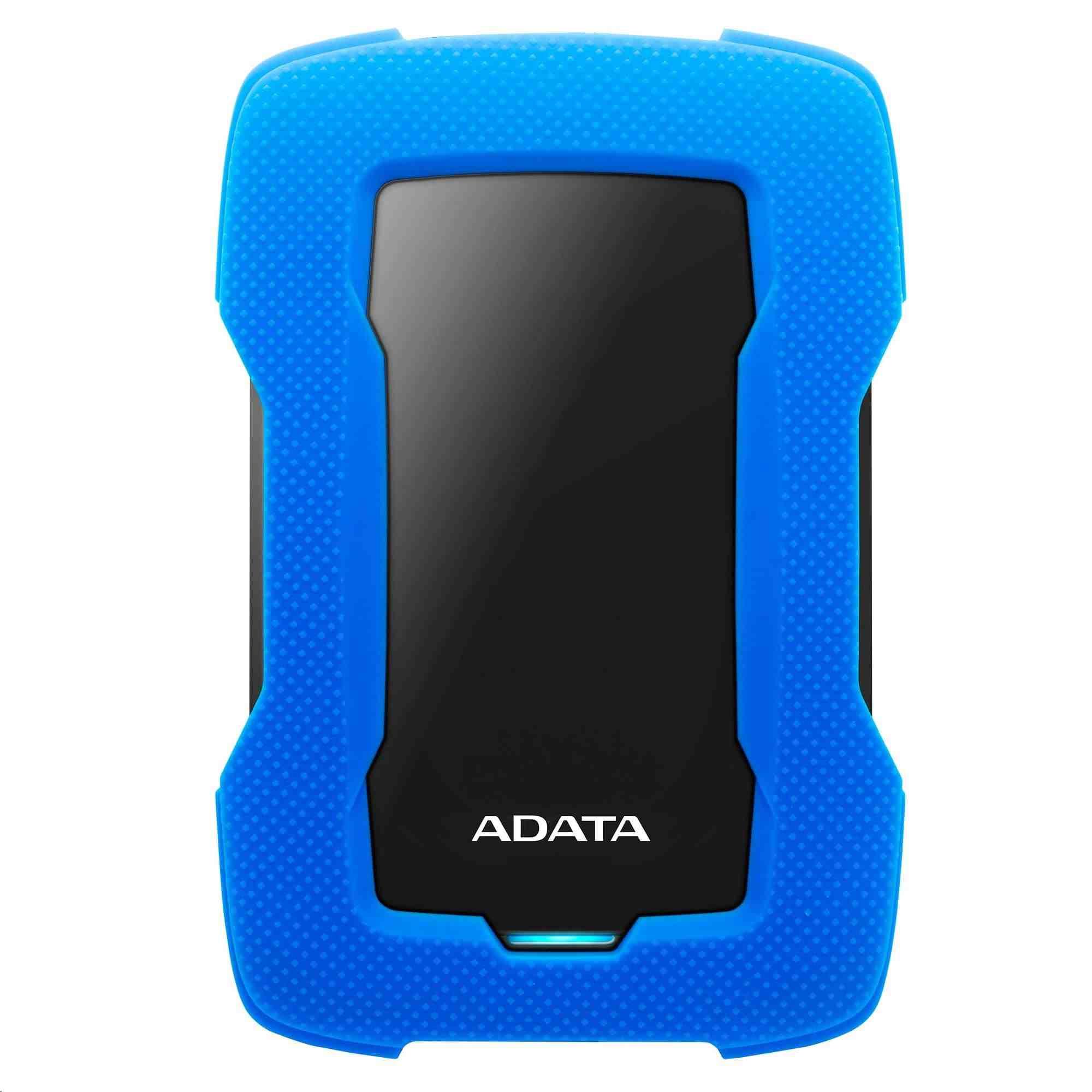 """ADATA Externí HDD 1TB 2,5"""" USB 3.1 HD330, BLUE COLOR BOX, modrý (gumový, nárazu odolný)"""
