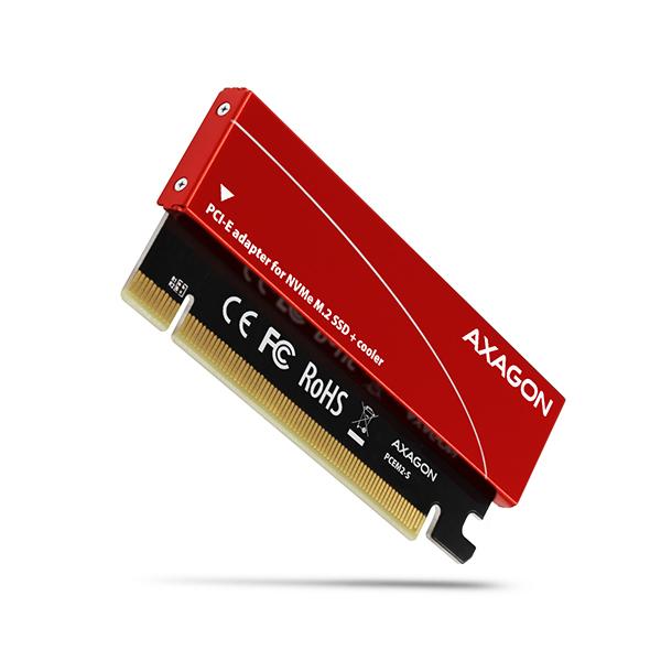 AXAGON PCEM2-S, PCIe x16 - M.2 NVMe M-key slot adaptér, + pasívny chladič