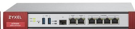 Zyxel ATP200 firewall, 2*WAN, 4*LAN/DMZ ports, 1*SFP, 2*USB with 1 Yr Bundle