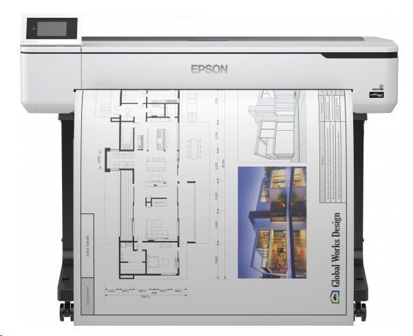 EPSON tiskárna ink SureColor SC-T5100, 4ink, A0, 2400x1200 dpi, USB ,LAN ,WIFI, Ethernet,Poukázky OMV 4000 Kč zdarma