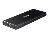 AKASA externí box pro M.2 SSD SATA II, III, USB 3.1 Gen1 Micro-B, (Supports 2230, 2242, 2260 & 2280), hliníkový, černý