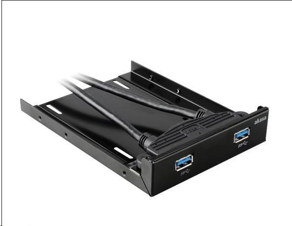 """AKASA Adaptér 2.5"""" SSD a HDD s 2x USB 3.0 porty do pozice 3.5"""""""