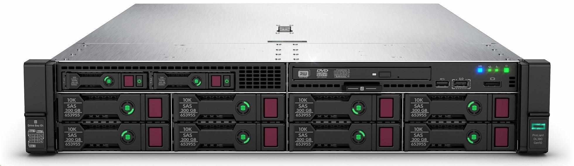 HPE PL DL380g10 3106 (1.7G/8C/11M/2133) 1x16G S100i SATA 8LFF 1x500Wp NBD333 2U 868709-B21 Renew