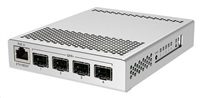 MikroTik Cloud Router Switch CRS305-1G-4S+IN, Dual Boot (SwitchOS, RouterOS), 800MHz, 512MB RAM, 4xSFP+, vč.L5
