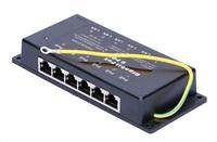 POE injektor panel pasivní, gigabitový - 6 portů, stíněný