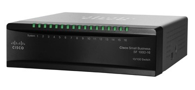 Cisco switch SF110D-16HP-RF, 16x10/100 PoE, REFRESH