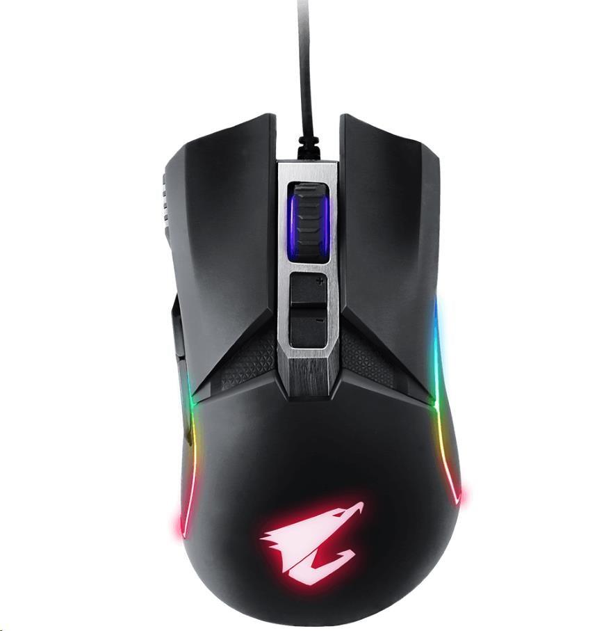 GIGABYTE Myš Gaming Mouse AORUS M5, USB, Optical, up to 16000 DPI