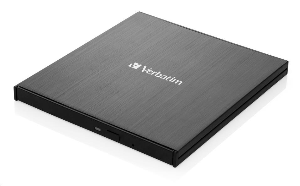 VERBATIM externí mechanika Ultra HD 4K Blu-ray External Slimline Writer (USB 3.1, USB-C) + zdarma 25GB MDISC