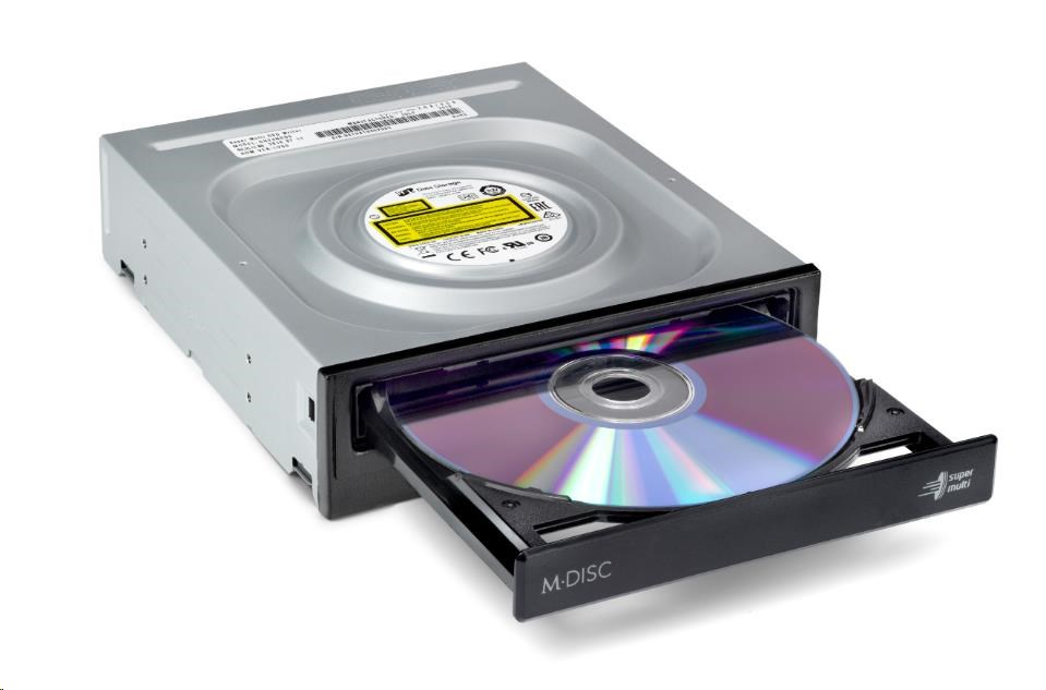 HITACHI LG - interní mechanika DVD-W/CD-RW/DVD?R/?RW/RAM/M-DISC GH24NSD5, 24x SATA, Black, bulk bez SW