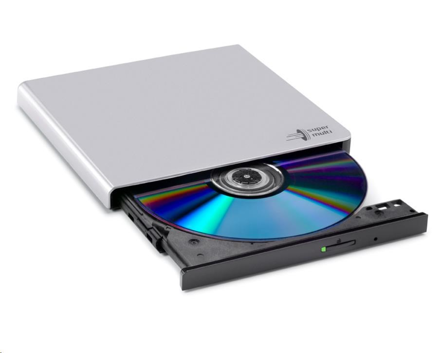 HITACHI LG - externí mechanika DVD-W/CD-RW/DVD?R/?RW/RAM GP57ES40, Slim, Silver, box+SW