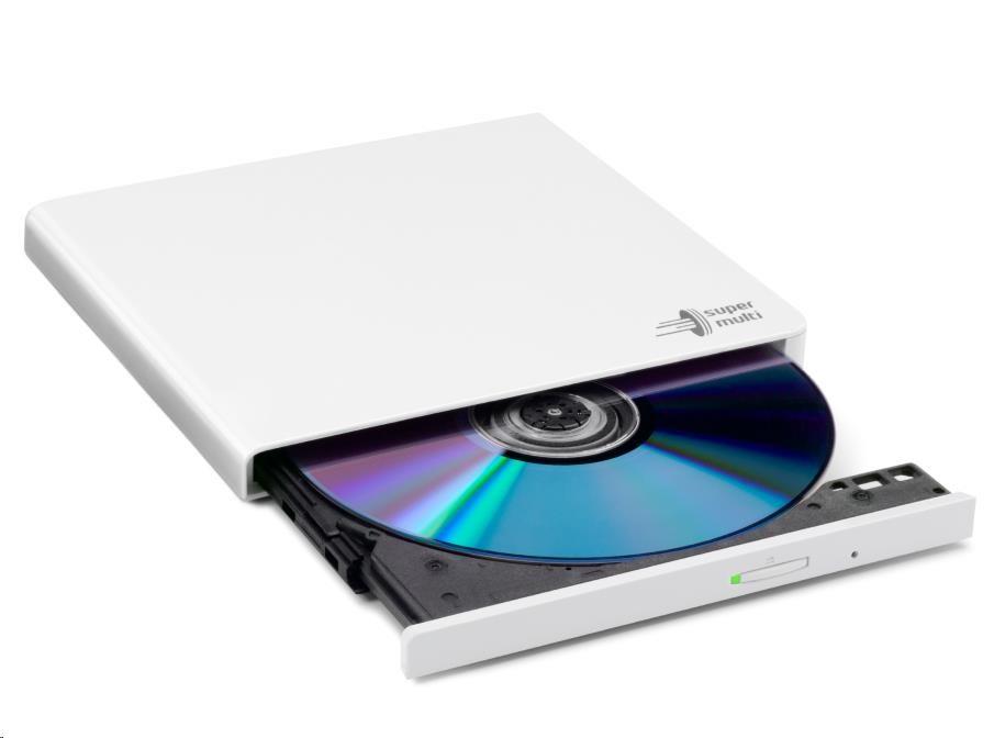 HITACHI LG - externí mechanika DVD-W/CD-RW/DVD?R/?RW/RAM GP57EW40, Slim, White, box+SW