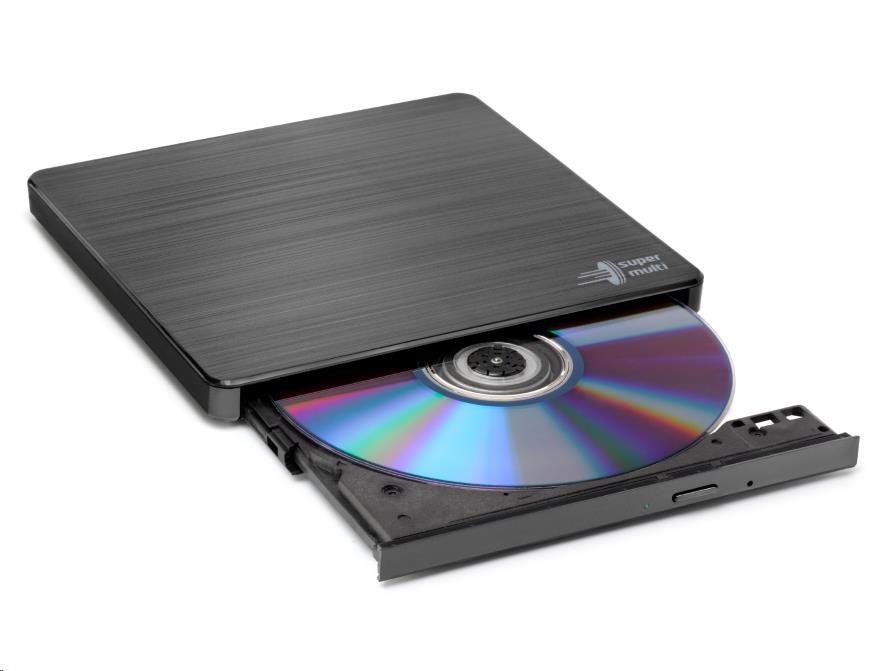 HITACHI LG - externí mechanika DVD-W/CD-RW/DVD?R/?RW/RAM GP60NB60, Slim, Black, box+SW
