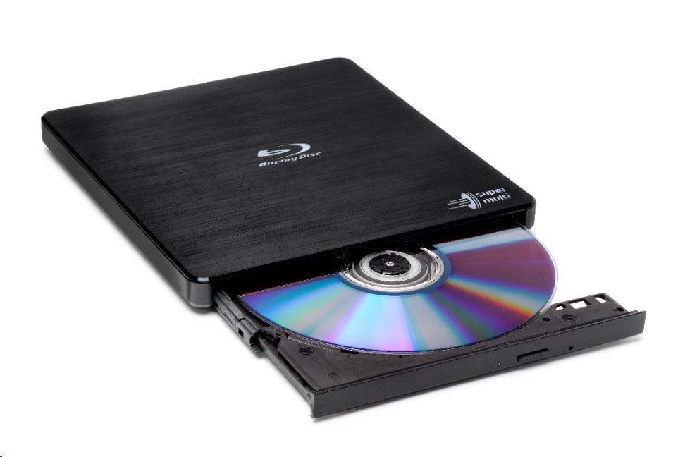 HITACHI LG - externí mechanika BD-W/CD-RW/DVD?R/?RW/RAM/M-DISC BP55EB40, Black, box+SW
