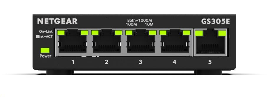 Netgear GS305E 5-port Gigabit Plus Switch, smart managed