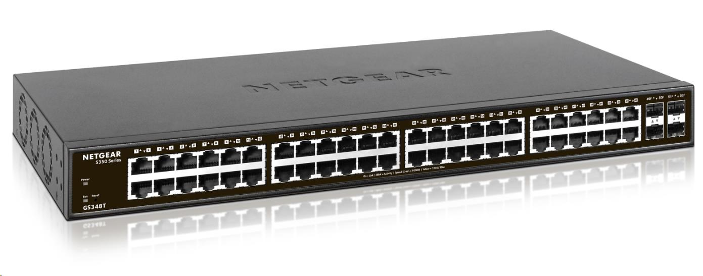 Netgear GS348T - S350 Series 48-port Gigabit Smart Managed Switch, 4x SFP