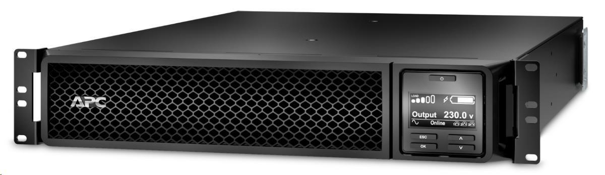 APC Smart-UPS SRT 1500VA RM 230V, On-Line, 2U, Rack Mount (1500W) Network Card (AP9631)