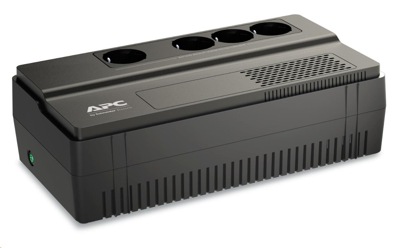 APC Easy UPS BV 1000VA, AVR,IEC Outlet, 230V, (600W), German SHUKO zásuvky (4)