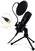 CONNECT IT YouMic mikrofon USB s POP filtrem, pozlacený konektor USB, černý