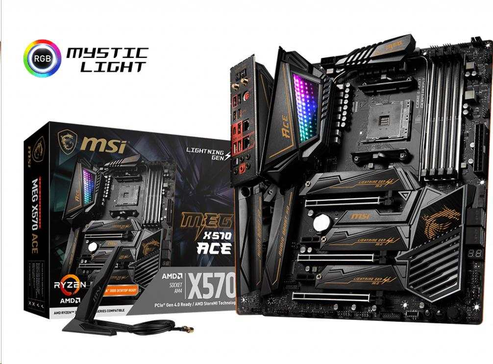 MSI MB Sc AM4 MEG X570 ACE, AMD X570, 4xDDR4, Wi-Fi