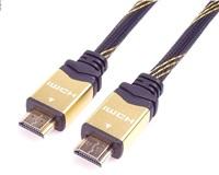 PREMIUMCORD Kabel HDMI 2.0 High Speed + Ethernet kabel HQ, zlacené konektory, 2m