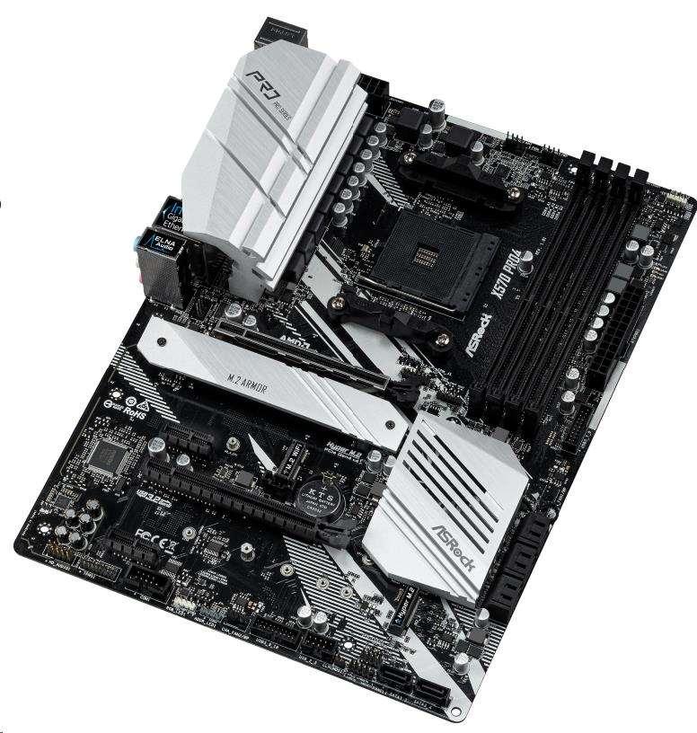 ASRock MB Sc AM4 X570 PRO4, AMD X570, 4xDDR4, VGA