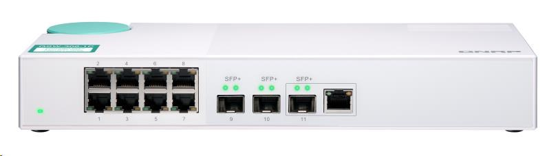 QNAP QSW-308-1C (2xSFP+/1xComboSFP+,RJ45/8x1GbE)