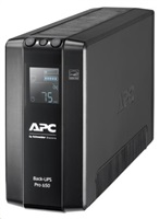 APC Back UPS Pro BR 650VA, 6 Outlets, AVR, LCD Interface (390W)