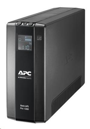 APC Back UPS Pro BR 1300VA, 8 Outlets, AVR, LCD Interface (780W)