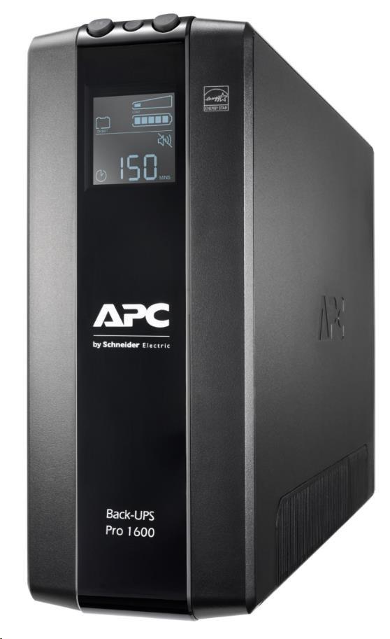 APC Back UPS Pro BR 1600VA, 8 Outlets, AVR, LCD Interface (960W)