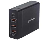 MANHATTAN USB nabíjecí stanice Power Delivery Charging Station – 72 W, černá