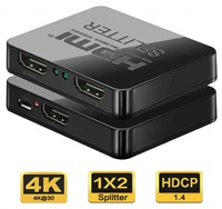 PREMIUMCORD HDMI splitter 1-2 porty, s napájením z USB, 4K, FULL HD, 3D