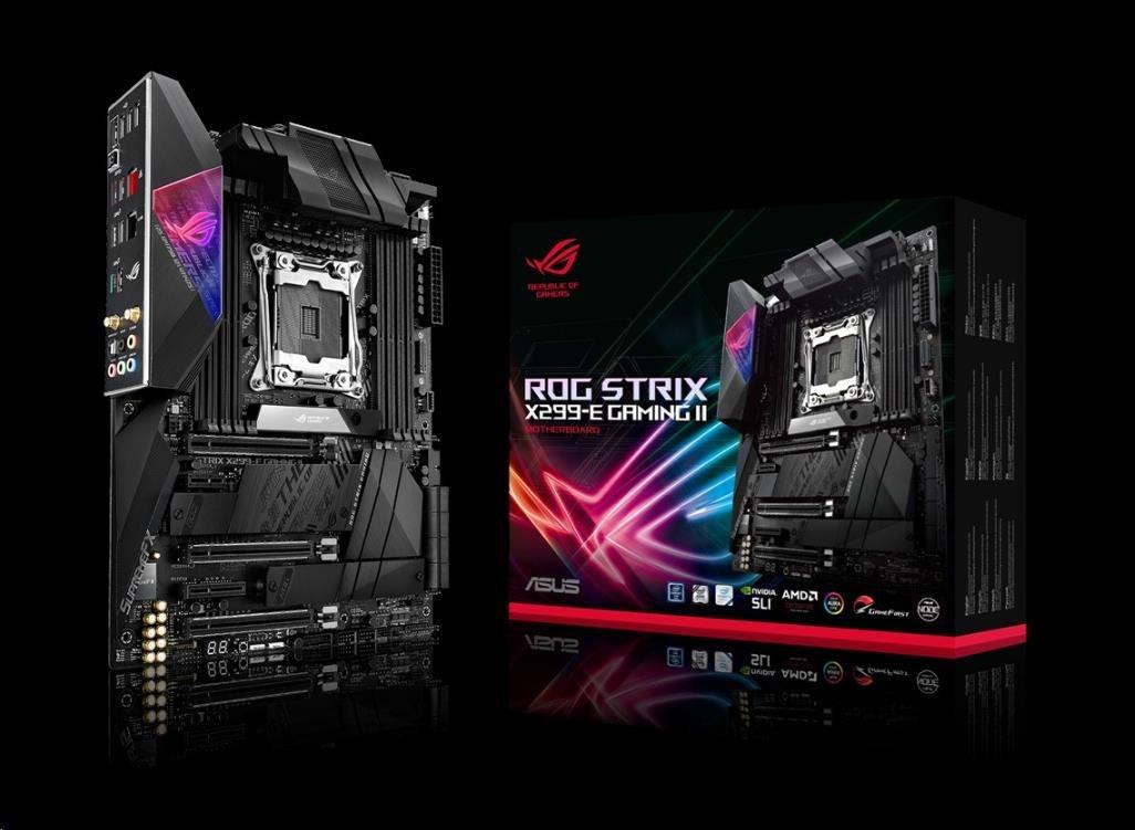 ASUS MB Sc 2066 PRIME ROG STRIX X299-E GAMING II, Intel X299, 8xDDR4, Wi-Fi