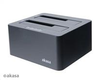 AKASA HDD box DuoDock X3 HDD/SSD, USB 3.1, 2.5