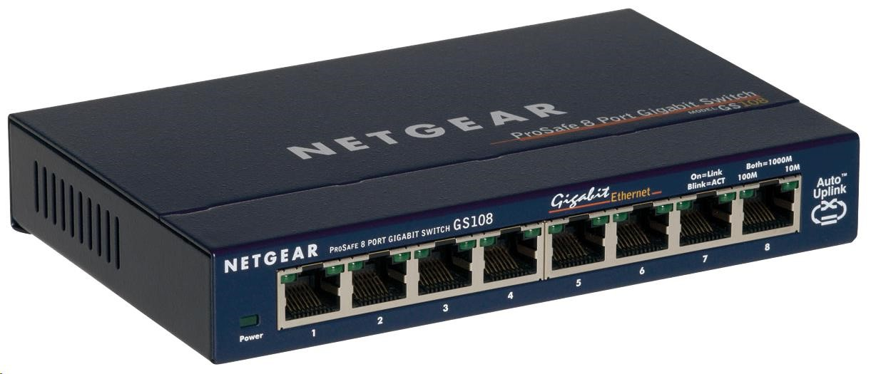 Netgear GS108 ProSafe 8-port Unmanaged Gigabit Desktop Switch
