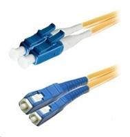 Duplexní patch kabel SM 9/125, OS2, LC-SC, LS0H, 1m