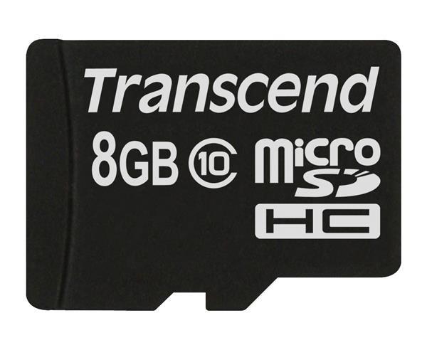 TRANSCEND Micro SDHC Class 10 8GB (bez adaptéru)