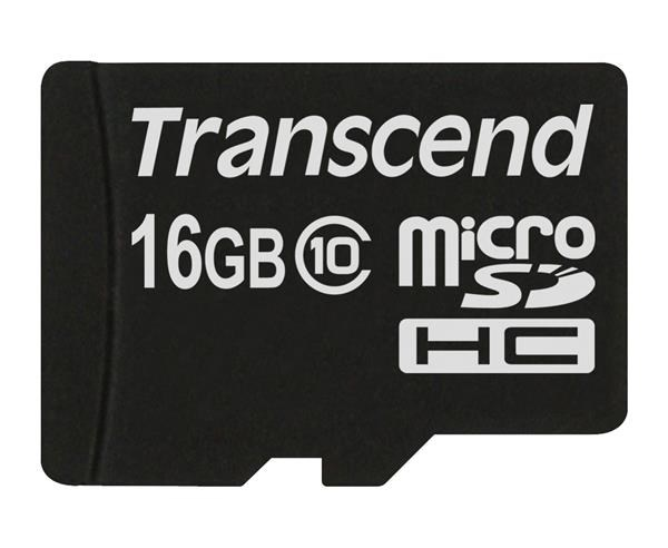 TRANSCEND Micro SDHC Class 10 16GB (bez adaptéru)