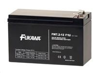 Baterie - FUKAWA FW 7,2-12 F1U (12V/7,2 Ah - Faston 187) SLA baterie, konektor - 4.8mm, životnost 5let