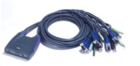 ATEN přepínač KVM 4-port VGA KVMP USB2.0, mini, audio, 0,9m kabely