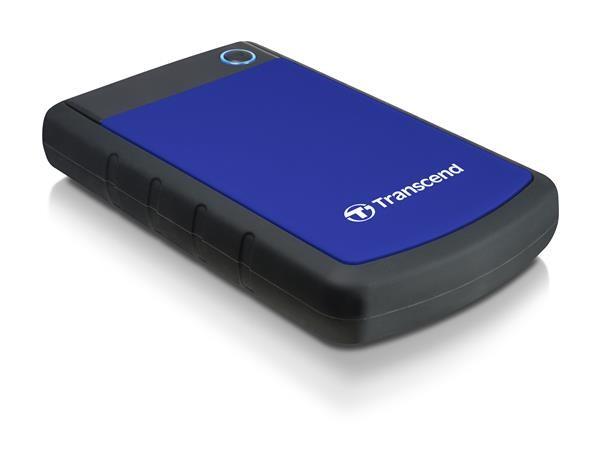 """TRANSCEND externí HDD 2,5"""" USB 3.0 StoreJet 25H3B, 1TB, Blue (nárazuvzdorný)"""
