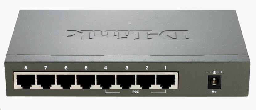D-Link DES-1008PA 8-port 10/100 Desktop Switch with 4 PoE Ports