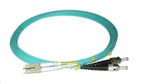 Duplexní patch kabel MM 50/125, OM3, LC-ST, LS0H, 2m
