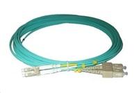 Duplexní patch kabel MM 50/125, OM3, LC-SC, LS0H, 1m