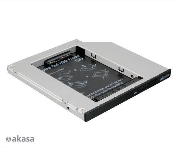 "AKASA HDD box  N.Stor S9, 2.5"" SATA HDD/SSD do pozice pro optickou mechaniku SATA (výška HDD do 9,5mm)"