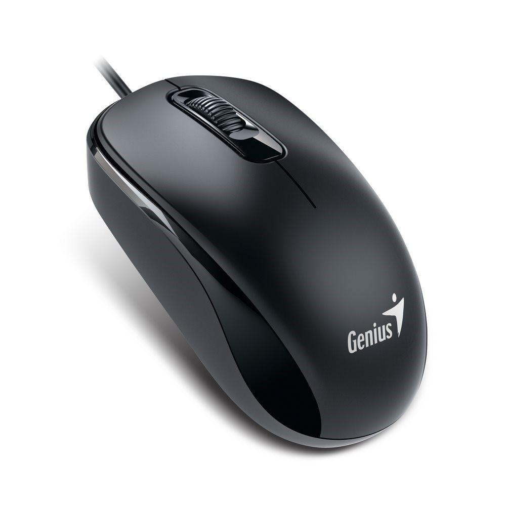 GENIUS myš DX-110, drátová, 1000 dpi, USB, černá