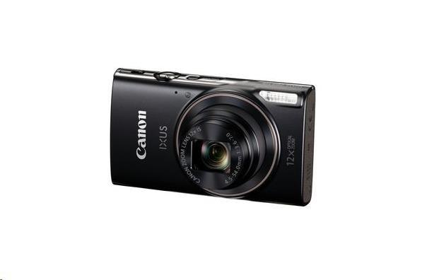 Canon IXUS 285 HS, 20MPix, 12x zoom, Wi-Fi, NFC - černý