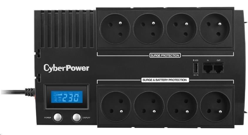 CyberPower BRICs Series II SOHO LCD UPS 1000VA/600W, české zásuvky